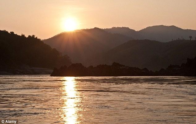 Sunset on the River Mekong
