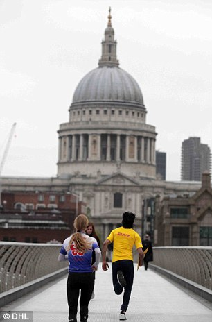 beating the rush: With traffic lanes reserved for Olympics officials on London's already jam-packed roads, foot couriers could be a speedy alternative for those who need packages in a hurry this summer