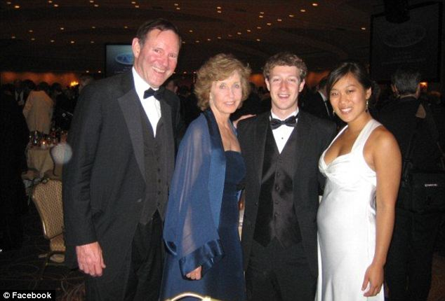 Formal affair: Priscilla posted a photo of she and Mark with The Washington Post's Don Graham and his wife Mary at the 2007 White House Correspondent's Dinner