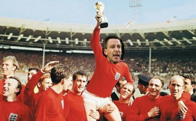 Going one better: Terry lifting the World Cup in 1966 instead of Bobby Moore
