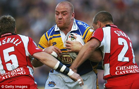 Stranded: Leigh (in red) were relegated from the Super League in 2005