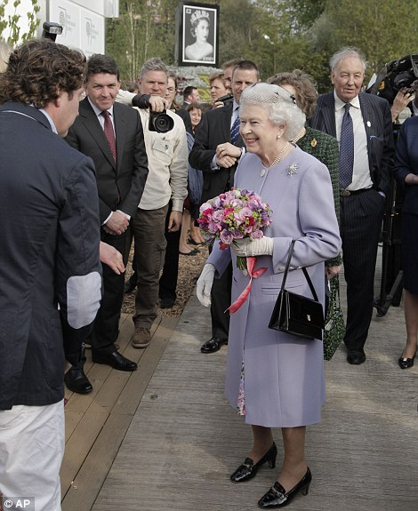 The Queen greets visitors to the Chelsea Flower Show today