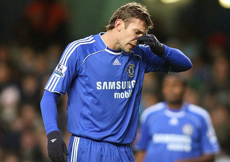 Flop: Shevchenko had a disappointing time as a player at Chelsea