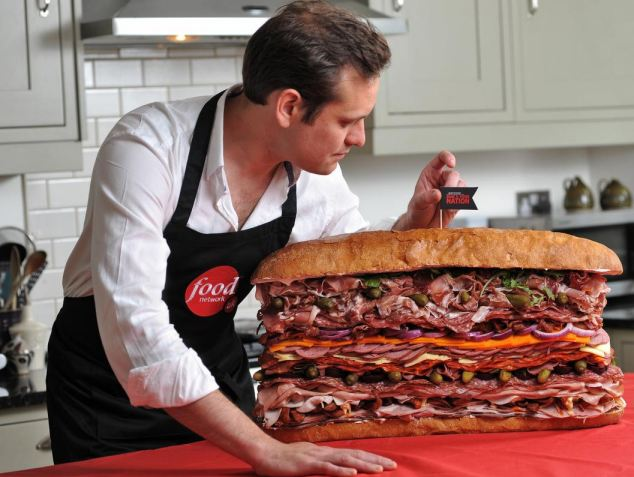 Food Network UK's chef Tristan Welch unveils his 1.2 feet tall and 2 stone heavy meat monster