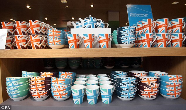 Rules: Strict laws have been brought in to ensure that only official stores can sell London 2012 Olympic merchandise