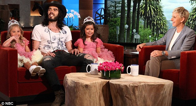 Contrast: Russell talked about his love for Katy on the show just last week, where he goofed around with Sophia Grace and Rosie