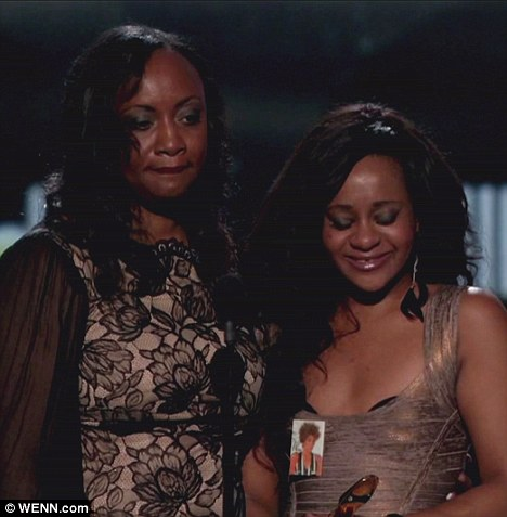Confrontation: Pat Houston - who appeared onstage with Bobbi Kristina at the Billboard Awards - is said to have called security on Ray J