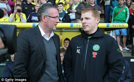 Not talking: Paul Lambert did not want to discuss a potential move to Aston Villa