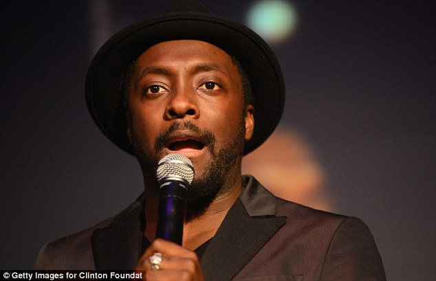 A touch of celebrity: Will.I.Am co-hosted the event with Bill and Chelsea Clinton and Gwyneth Paltrow