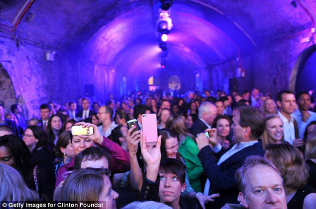 Through the keyhole: The event took place at The Old Vic Tunnels, located underneath London's Waterloo Station