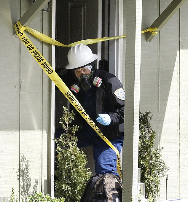 Authorities said the wife and two of the children had been shot, and an infant asphyxiated.