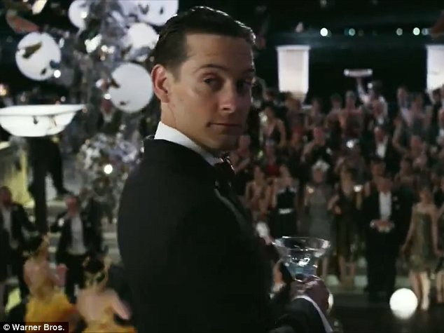 Taking the lead: Tobey Maguire portrays Nick Carraway, from whose perspective the story is told