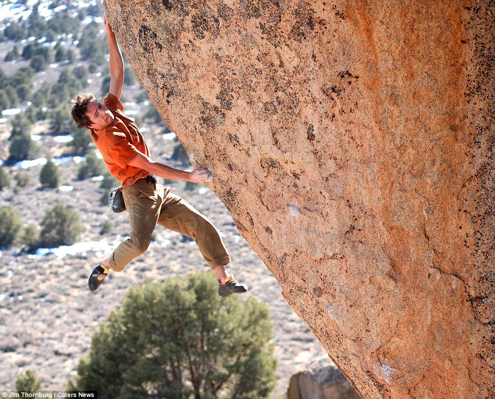 Chronicled: Snapper Jim Thornburg, from California, has captured Kevin on some of his most daring climbs