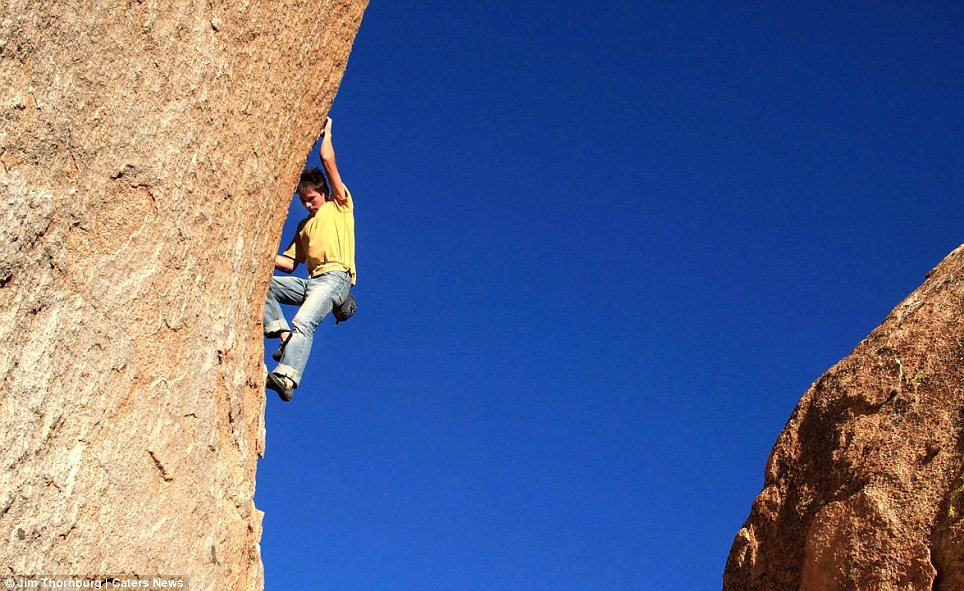 Born climber: Kevin said he started climbing as soon as he was born, something which constantly scared his parents