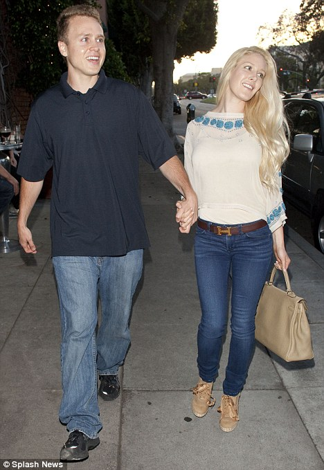 The look of love: The Hills couple enjoyed a romantic dinner date