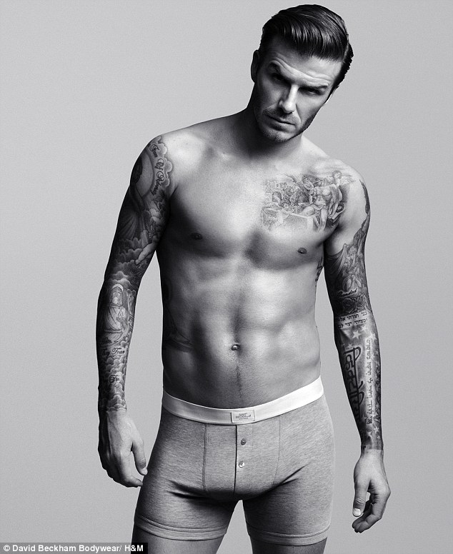 Hotpants: Beckham's Bodywear is sold at H&M stores