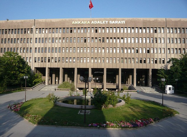 Safe keeping: The book was stored in Ankara's Justice Palace after it was confiscated from smugglers