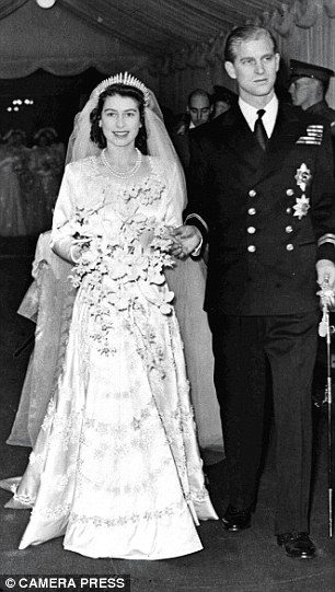 The wedding of Princess Elizabeth to her third cousin, Lieutenant Philip Mountbatten