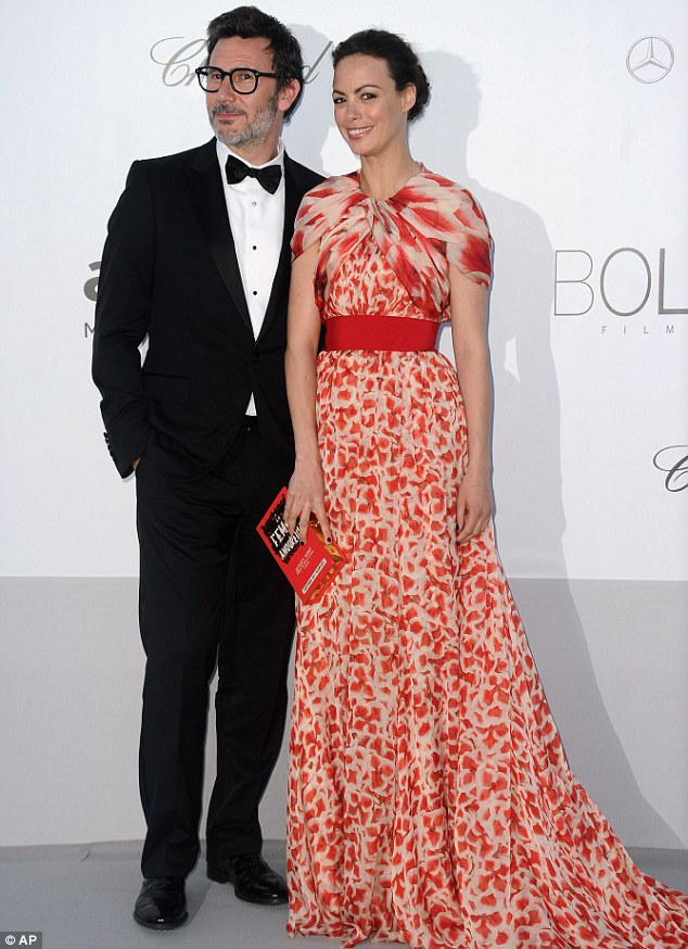 Star-studded: The Artist star Berenice Bejo walked the red carpet with husband, directer Michel Hazanavicius