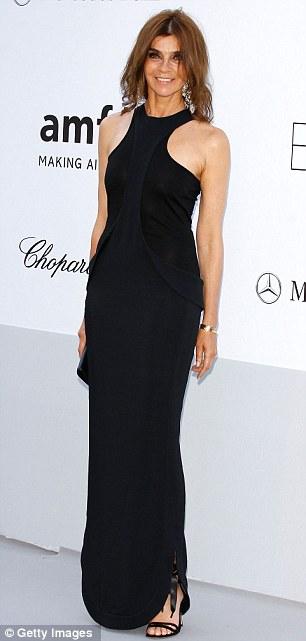 Sleek: former French Vogue editor Carine Roitfeld