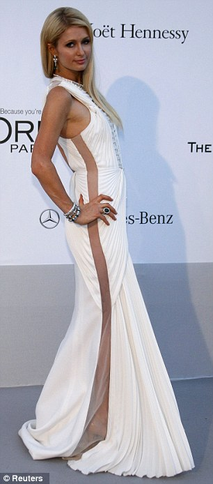 Socialites give back: Tamara Ecclestone and Paris Hilton both attended the glamorous affair