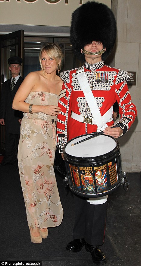 The music man: Chloe got up close and personal with a drummer at the event