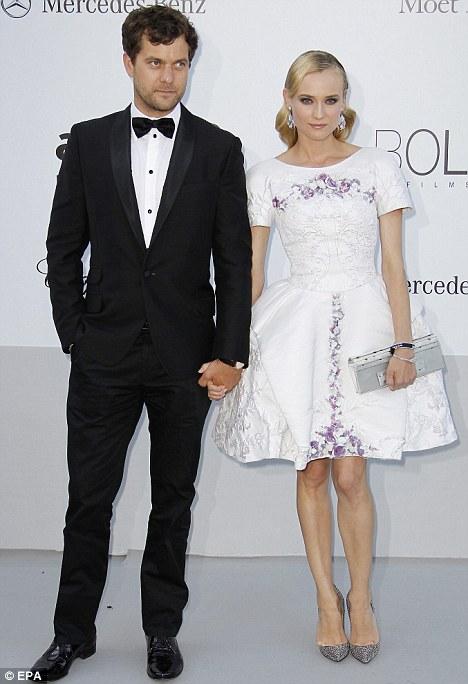 Handsome couple: Joshua and Diane at last night's amFAR gala at Eden Roc
