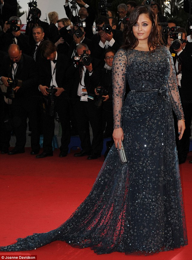 Stunning turn: Aishwarya Rai Bachchan looked stunning on the red-carpet for the premiere of Cosmopolis in Cannes this evening