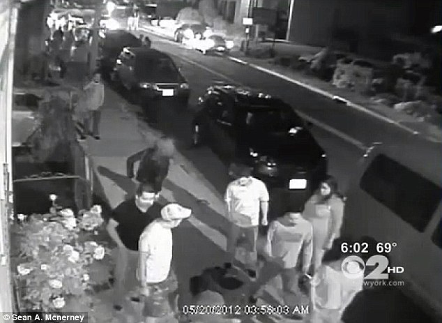 Rich pickings: Sergio Palacios staggered from a bar and fell unconscious in the Port Chester street before a crowd gathered and took his possessions