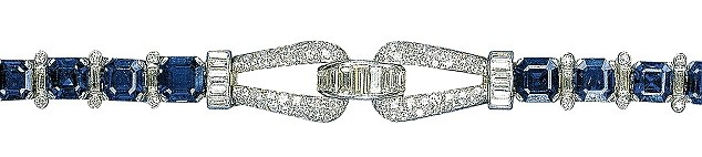 On her 18th birthday in 1944, the young princess was given this sapphire and diamond Cartier bracelet by her parents