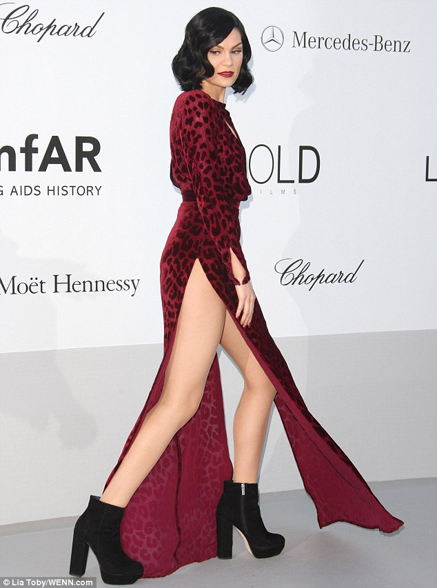 Pins on parade! The singer was in danger of revealing a little too much as she walked the red carpet in her racy dress