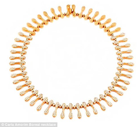 What a treasure: Joshua bought this $45,000 necklace for his lucky girlfriend