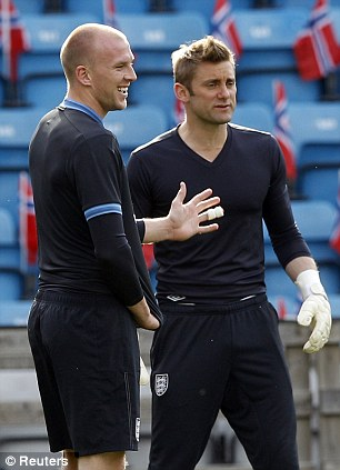 Ruled out: John Ruddy (left) is injured