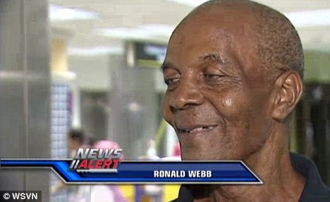 Close to home: Ronald Webb, a passenger on board, described the man running to the front quickly which recalled thoughts of previous terrorist attacks on planes