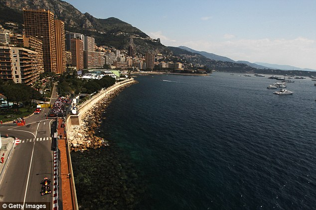 Picturesque setting: Sebastian Vettel during qualifying on the streets of Monaco