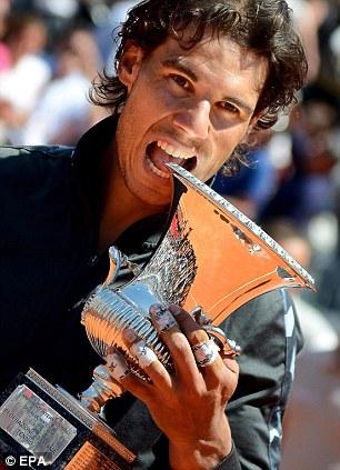 Taste for it: Nadal beat Djokovic to win the Italian Open on May 21