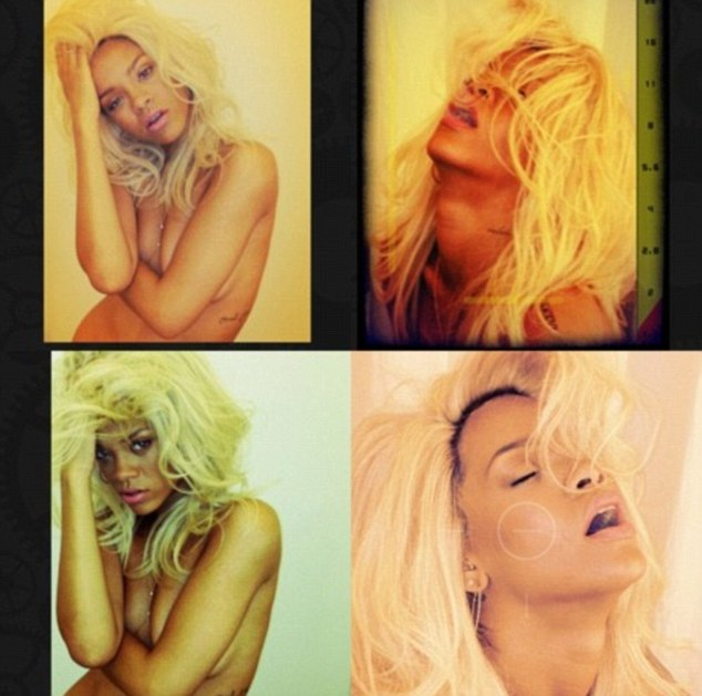 Testing a new hue: She earlier showed off her blonde wig as she did a photo shoot for her fragrance called Nude