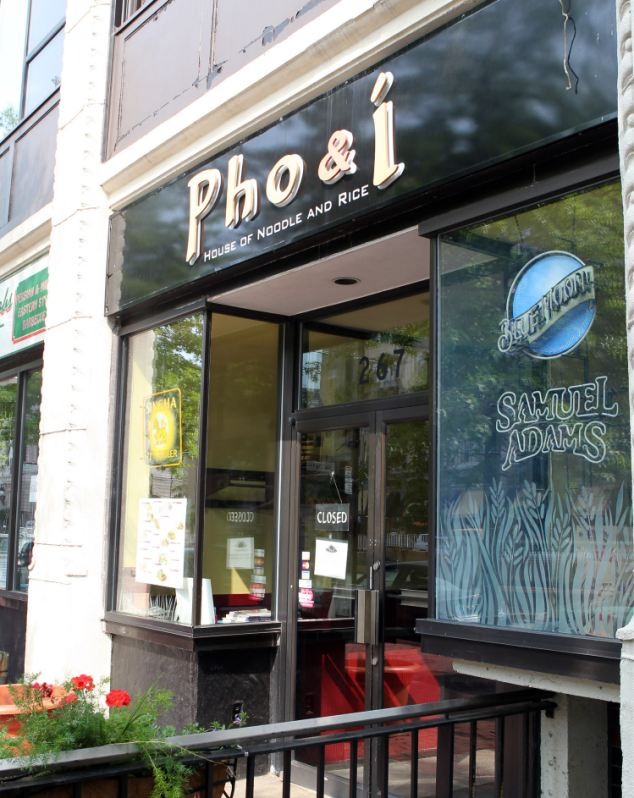 Changing fortunes: The Chans' old restaurant Taste of Asia in Boston - now called Pho & I