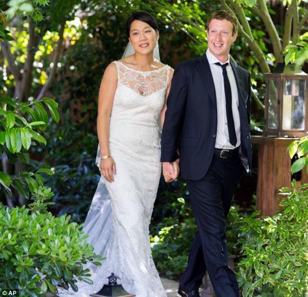 Billionaire bride: Facebook founder Mark Zuckerberg wed Priscilla Chan last weekend in California