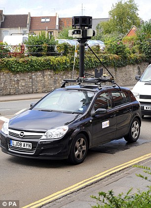 Google, pictured street-mapping in Bristol, has always claimed that it didn't know its software would collect the private information