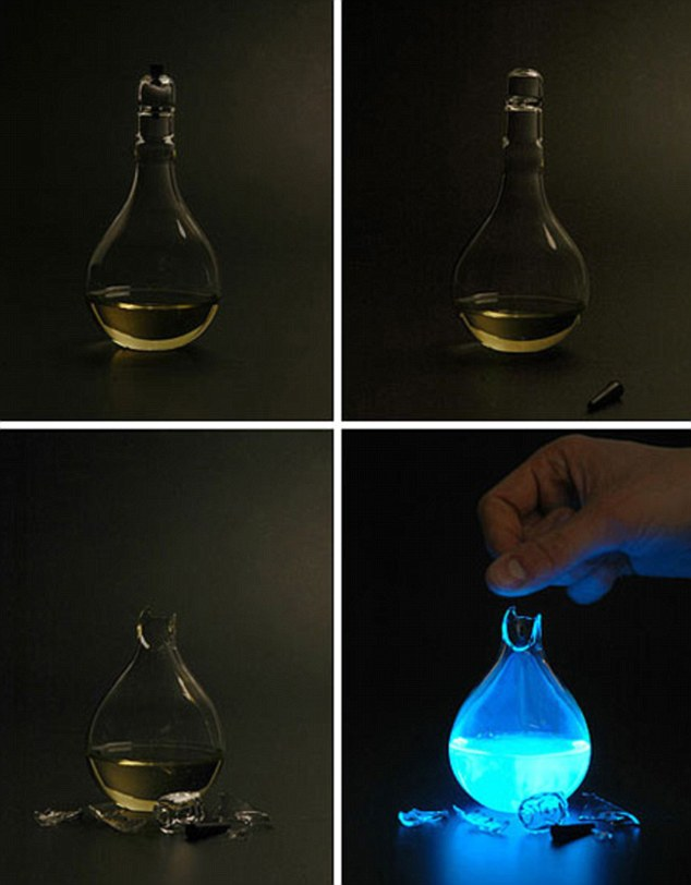 Each lamp is designed to be used just once - to show, its designer claims, how irresponsible our consumer society is