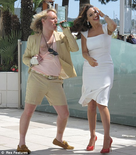 Little big screen star: He stars with Leigh Francis and and Kelly Brook in Keith Lemon the Film