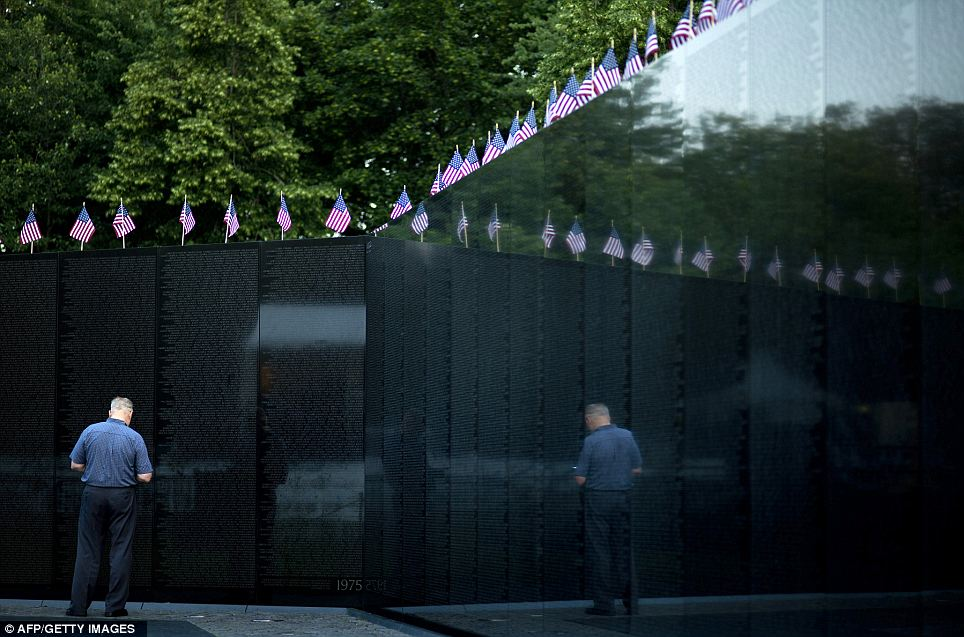 The Wall: !0 new names of deceased soldiers were added to the wall this year after their deaths were confirmed, bringing the total death count to 58,282 victims