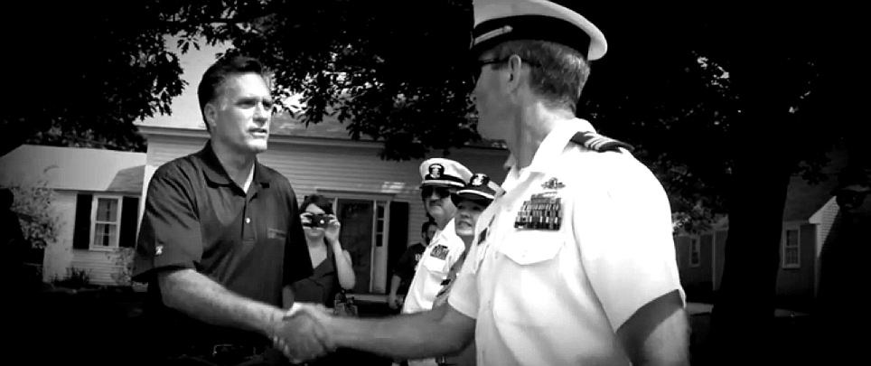 Thank you: Mitt Romney released a video thanking members of the military for their service