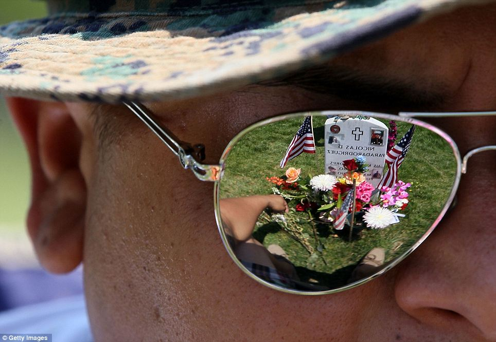 Point of view: Ricky Parada visited the grave of his little brother Nicolas D. Paradarodriguez who died in Afghanistan
