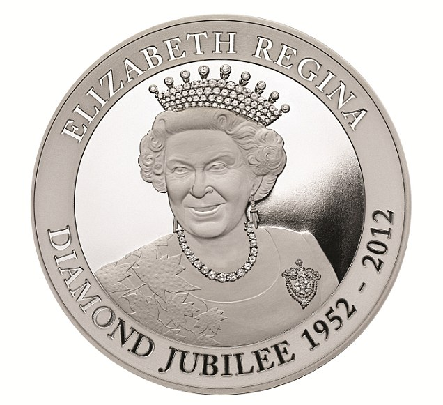 Commemorative: Sixty silver coins have also been made and are on sale for £25,000