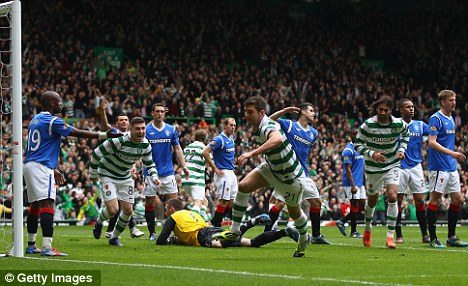 Unhappy ending: Rangers finished the season 20 points behind rivals Celtic