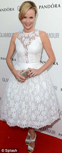 The women in white: Amanda, Kelly and Abbey Crouch were all light and summery for the evening