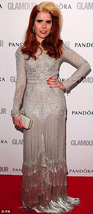 Individual looks: Alexandra Burke and Paloma Faith both arrived in somewhat unusual dresses