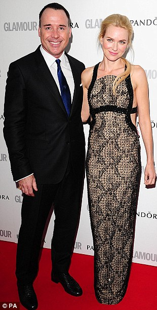 Paired up! Pals David Furnish and Naomi Watts arrived together, as did Julien MacDonald and Alesha